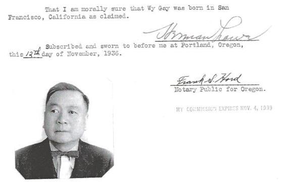 Herman Lowe 1938 Affidavit