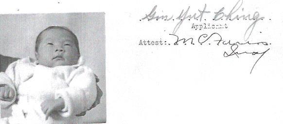Photo of Gin Yut Ching, age 15 days
