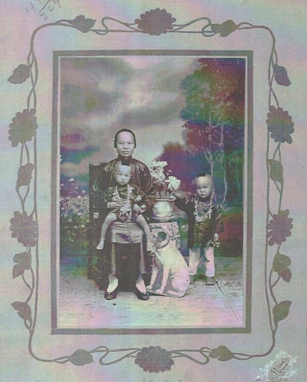 Portrait of Eng Moon's family