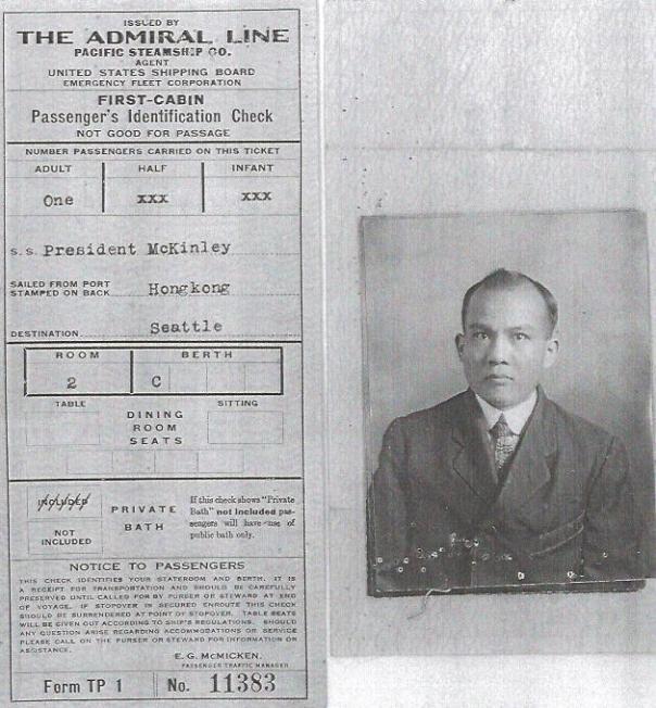 Jew Hoo Passenger ID Check Bx 887 7032 464