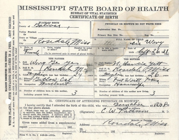 rosedale mississippi | chinese exclusion act case files