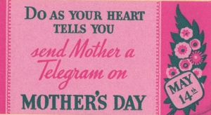Mother's Day ad telegram