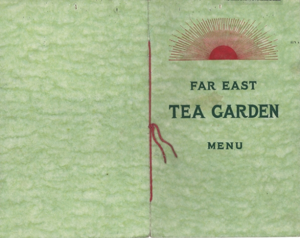 Tea Garden Menu cover