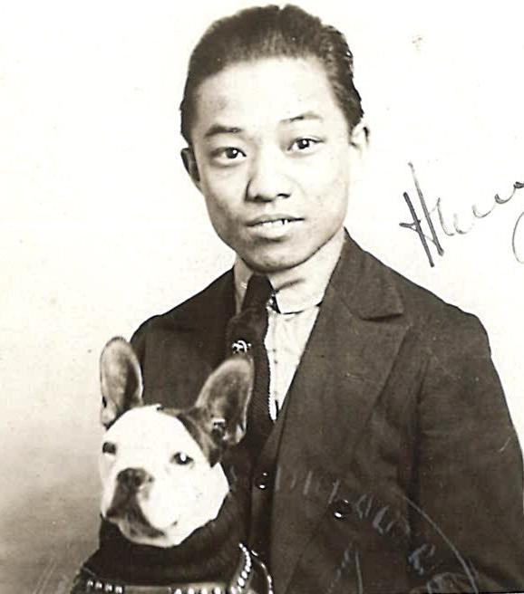 Tsang Gee Kay photo with dog