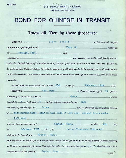 Chu Yong Bond in Transit