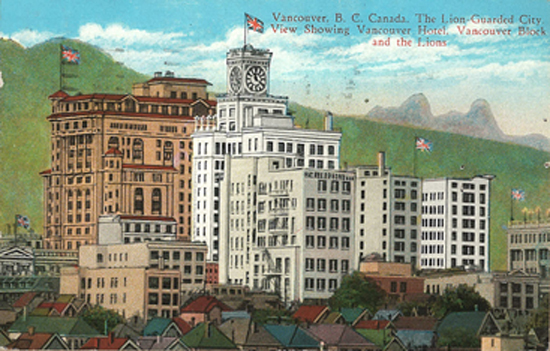1930 Post Card of Vancouver Hotel, Vancouver, B.C., Canada