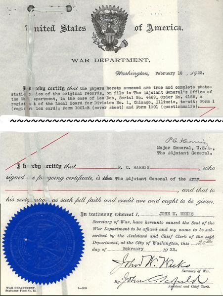 Lee Doo - U.S. Navy Discharge