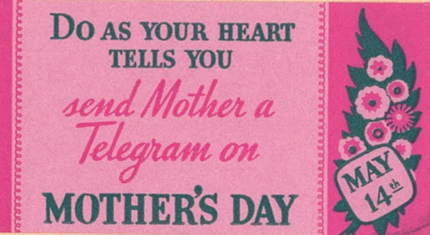 Mother's Dad Telegram ad