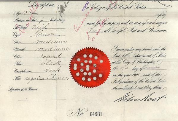 May Sophie Lee passport seal