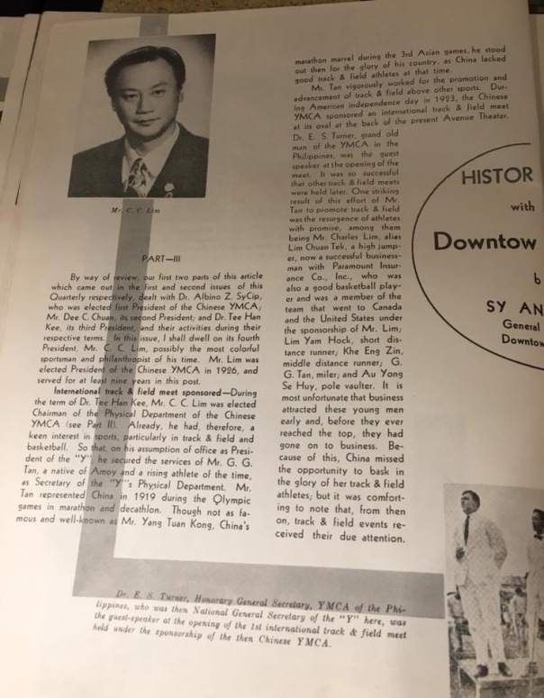 Mr. C. C. Lim History of YMCA Part III