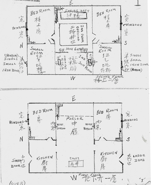 Floor Plans For Schoolhouse In Gong Mee Village China Chinese Exclusion Act Case Files