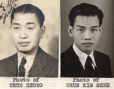 Chun Kim Shee Father aff 1939