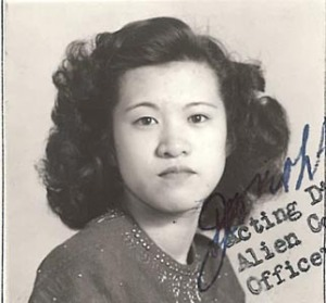 """Form 430 photos of Rose Leong,"" 1942 & 1943, Chinese Exclusion Act case files, RG 85, National Archives-Seattle, Leong King Ying Rose case file, Seattle Box 827, file 7030/13652."