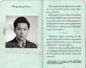 David Loo Passport photo 1941