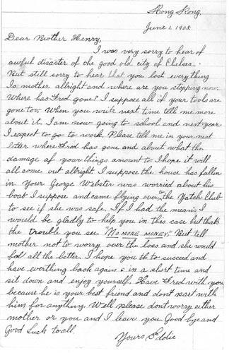 Ar Tick Letter 1 June 1908