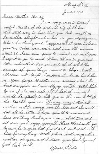Ar Tick Letter 1 June 1908
