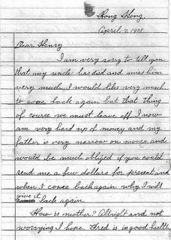 Ar Tick Letter 7 Apr 1908